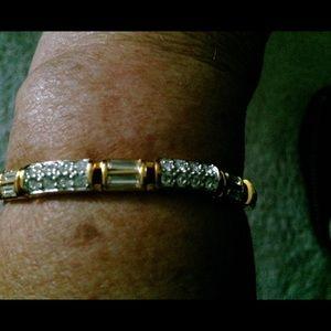 Swarovski Gold Plated and Crystal Bracelet